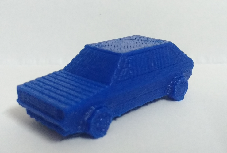 Volkswagen Golf GTI - Low Poly Miniature 3D Print 18523