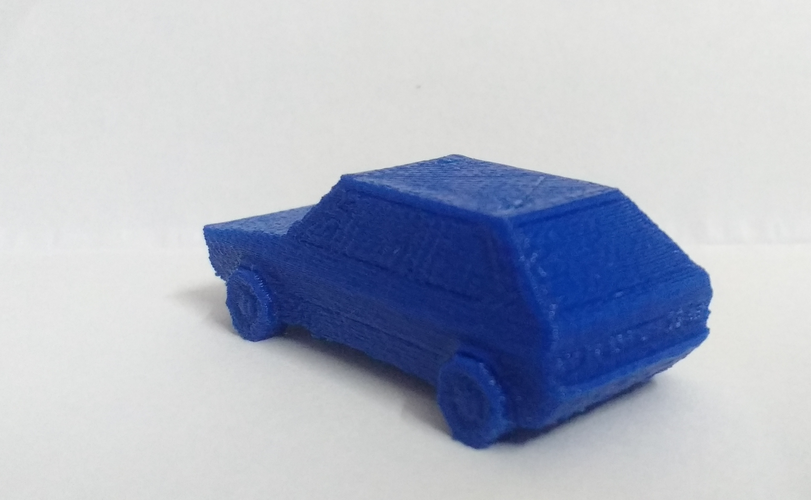 Volkswagen Golf GTI - Low Poly Miniature 3D Print 18524
