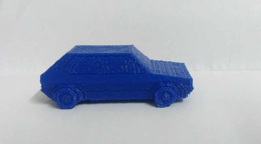 Volkswagen Golf GTI - Low Poly Miniature 3D Print 18525