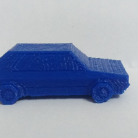 Small Volkswagen Golf GTI - Low Poly Miniature 3D Printing 18525