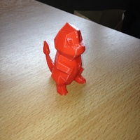 Small Low-Poly Charmander - Multi and Dual Extrusion version 3D Printing 18540
