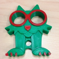 Small Fat Cat Earbud Holder (Headphone Holder) 3D Printing 18576