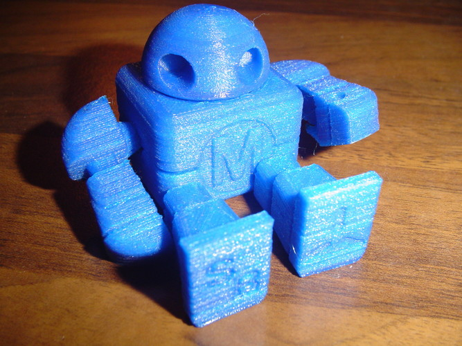 Mini Maker Faire Robot Action Figure 3D Print 18748