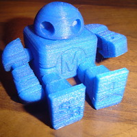 Small Mini Maker Faire Robot Action Figure 3D Printing 18748