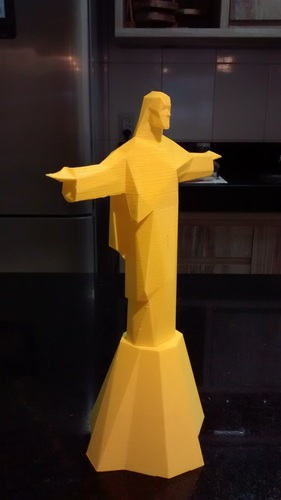 Low Poly Statue of Christ the Redeemer in Rio De Janeiro  3D Print 18827