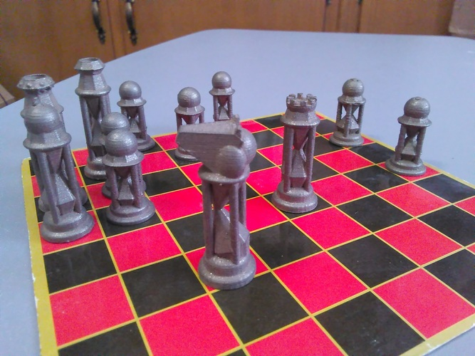 Diamond Hourglass #Chess 3D Print 18861