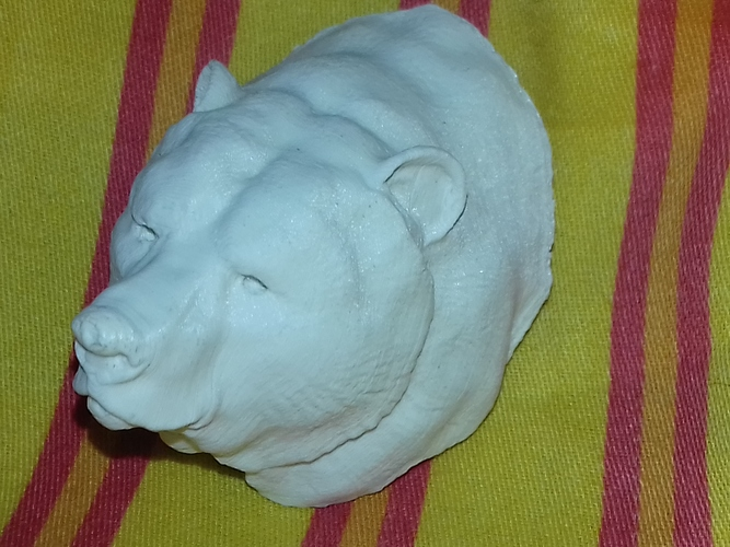 Grizzly bear bust 3D Print 18965