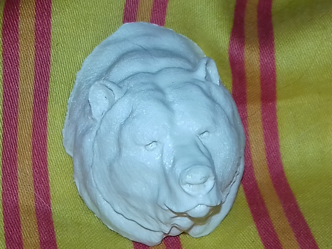 Grizzly bear bust 3D Print 18967