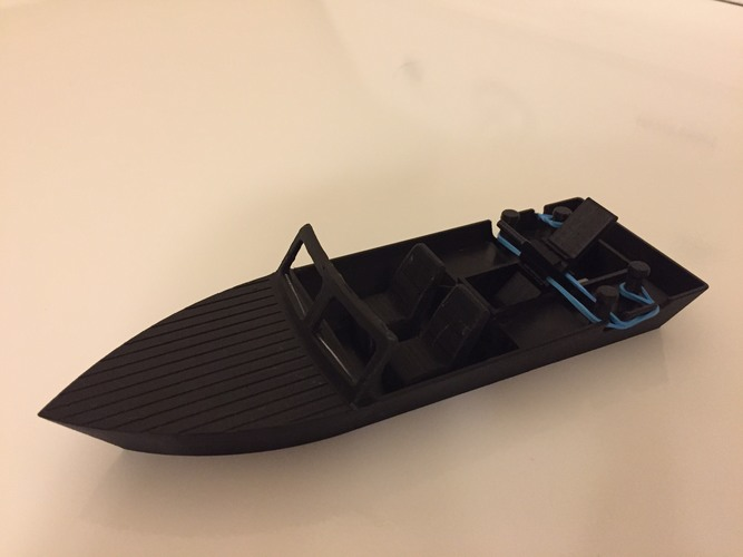 Rubber Band Speed Boat 3D Print 19048