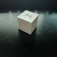 Small XYZ 20mm Calibration Cube 3D Printing 19138