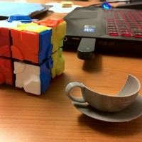 "Small Rubik's Companion Cube ""Stickers"" 2x2 3D Printing 19228"