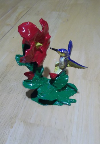 The Hummingbird & Hibiscus w/Supports-REMIX 3D Print 19247
