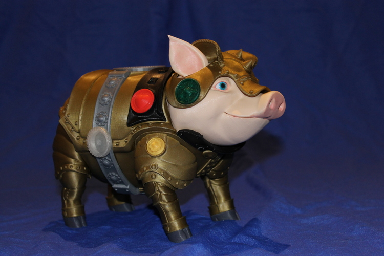 Sir Pigglesby (a most noble piggy bank) 3D Print 19263