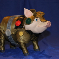 Small Sir Pigglesby (a most noble piggy bank) 3D Printing 19263
