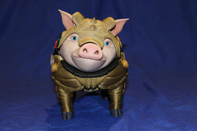 Sir Pigglesby (a most noble piggy bank) 3D Print 19264