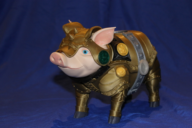 Sir Pigglesby (a most noble piggy bank) 3D Print 19266