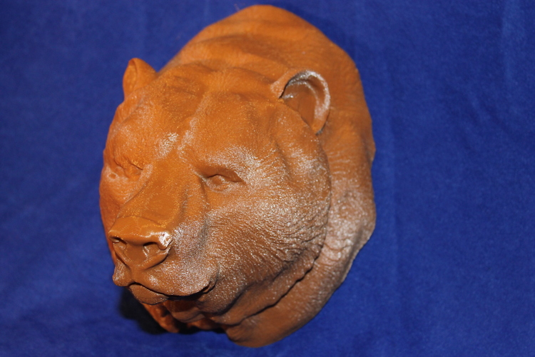 Grizzly bear bust 3D Print 19288
