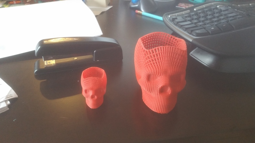 Wireframe Skull Pencil Holder (For The Love of Dog) 3D Print 19312