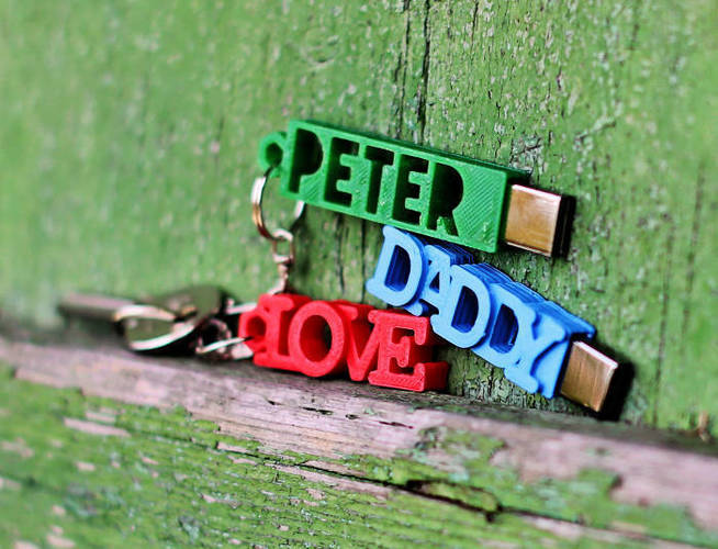 PETER USB Case with Keyring 3D Print 19313