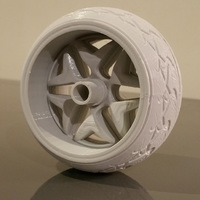 Small Wheel and Tyre 3D Printing 19329