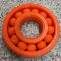 "Small Large ""Print-in-place"" Ball Bearing (Ø145mm) 3D Printing 19332"