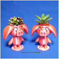Small  Cute animal - Rose pig potted 3D Printing 19393