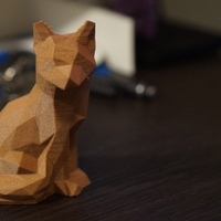 Small Low Poly Fox 3D Printing 1948