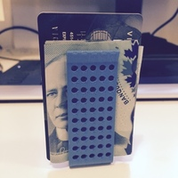 Small Double Money Clip 3D Printing 1958