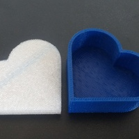 Small Heart jewelry box 3D Printing 19662