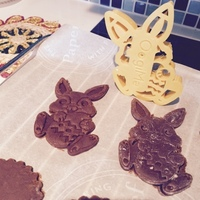 Small Easter Bunny Cookie Cutter 3D Printing 1969