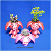 Small  Cute animal - Rose pig potted 3D Printing 19725