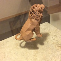 Small Roaring Lion 3D Printing 1973