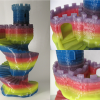 Small Spiral tower 3D Printing 19841