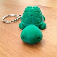 Small Tortoise Keychain / Smartphone Stand 3D Printing 19855
