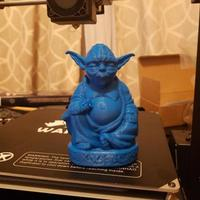 Small Improved Yoda Buddha w/ Lightsaber  3D Printing 19890
