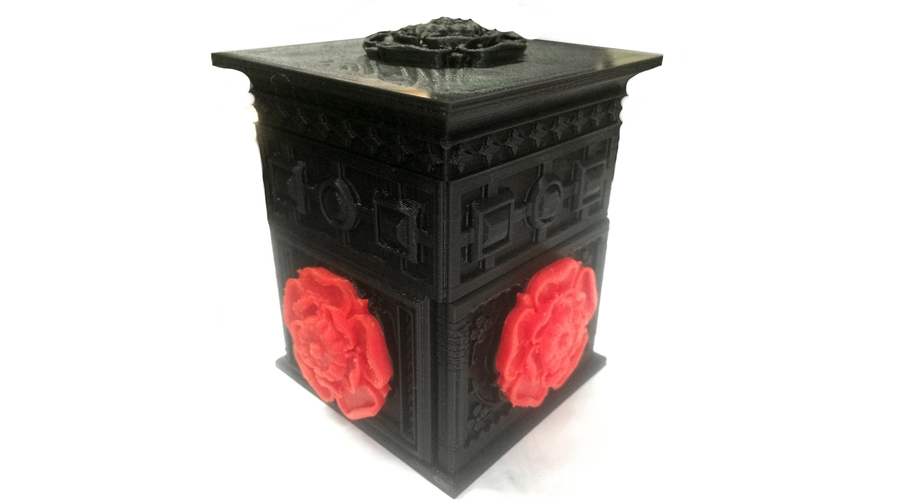 The Tudor Rose Box (with secret lock) 3D Print 2003