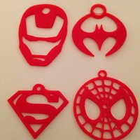 Small Superhero Keychains 3D Printing 20046