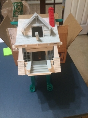 the American Craftsman Bungalow Birdhouse 3D Print 20088