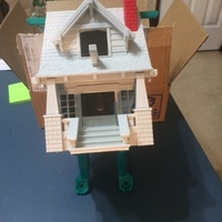 Small the American Craftsman Bungalow Birdhouse 3D Printing 20088