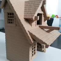 Small the American Craftsman Bungalow Birdhouse 3D Printing 20102