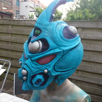 Small Guyver - Dark hero Helmet  3D Printing 20234