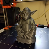 Small Improved Yoda Buddha w/ Lightsaber  3D Printing 20258