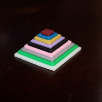 Small Color Test Pyramid  3D Printing 20299