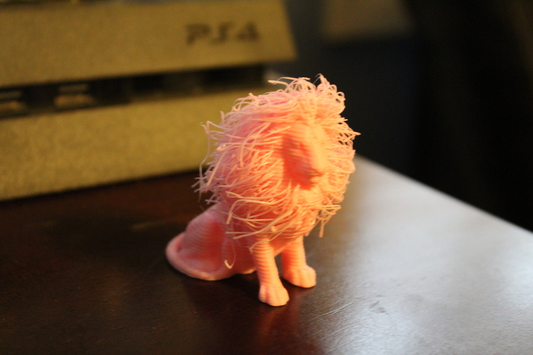 lion with hair 3D Print 20302