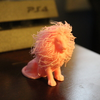 Small lion with hair 3D Printing 20302