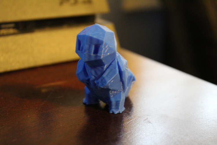 Low-Poly Squirtle - Multi and Dual Extrusion version 3D Print 20304