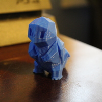 Small Low-Poly Squirtle - Multi and Dual Extrusion version 3D Printing 20304