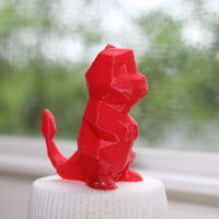 Small Low-Poly Charmander - Multi and Dual Extrusion version 3D Printing 20310