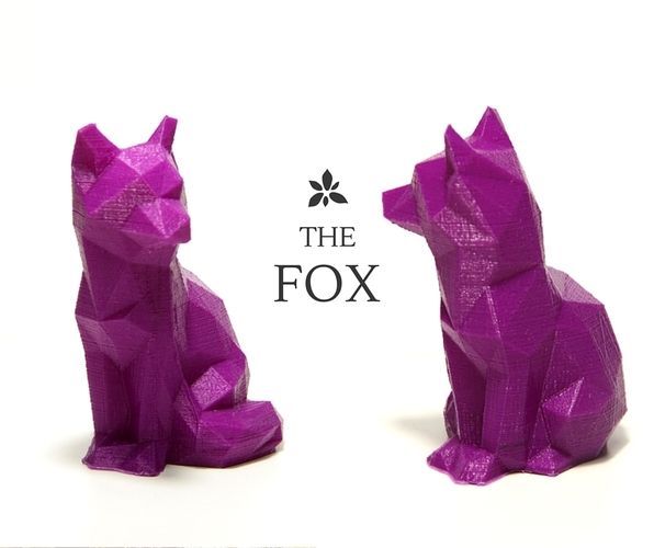 Low Poly Fox 3D Print 2032