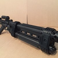 Small E-22 Blaster Rifle 3D Printing 20390